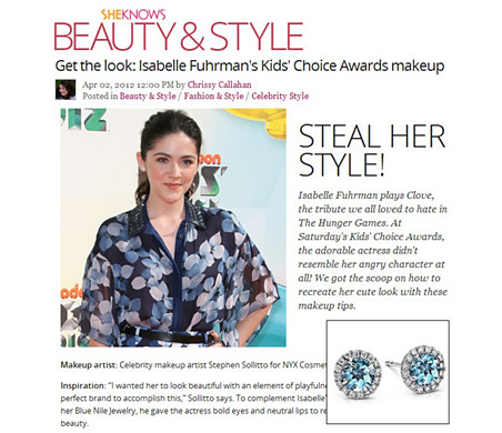 SheKnows.com - Ayez le look : Isabelle Fuhrman au Kids' Choice Awards