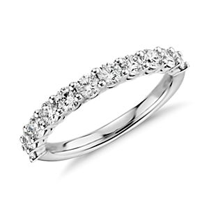 Anillo de diamantes Aria en oro blanco de 18 k (1 qt. total)