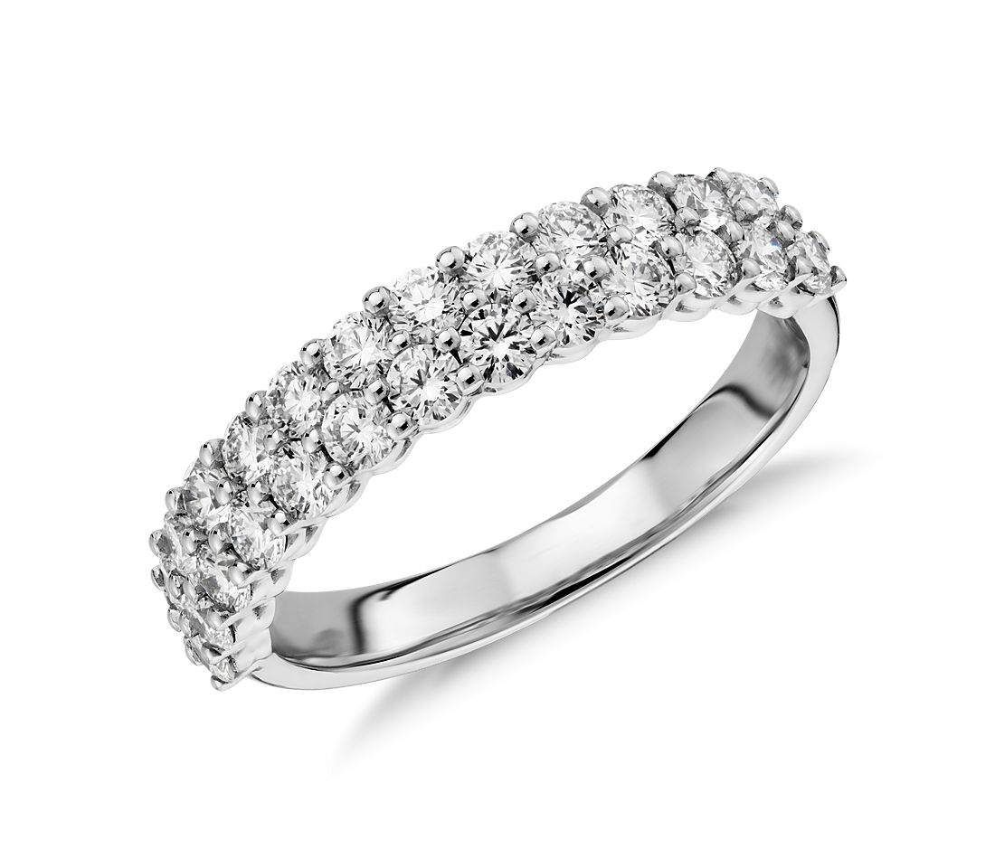 Aria Double Row Diamond Ring in 18k White Gold (1.15 ct. tw.)