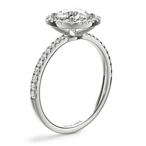 Arietta Halo Diamond Engagement Ring