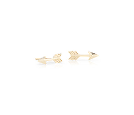 Arrow Stud Earrings in 14k Yellow Gold