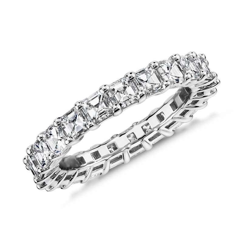 Asscher Cut Diamond Eternity Ring in Platinum (3.0 ct. tw.)