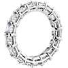 Asscher Cut Diamond Eternity Ring in Platinum (4.90 ct. tw.)