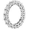 Asscher Cut Diamond Eternity Ring in Platinum (6.0 ct. tw.)