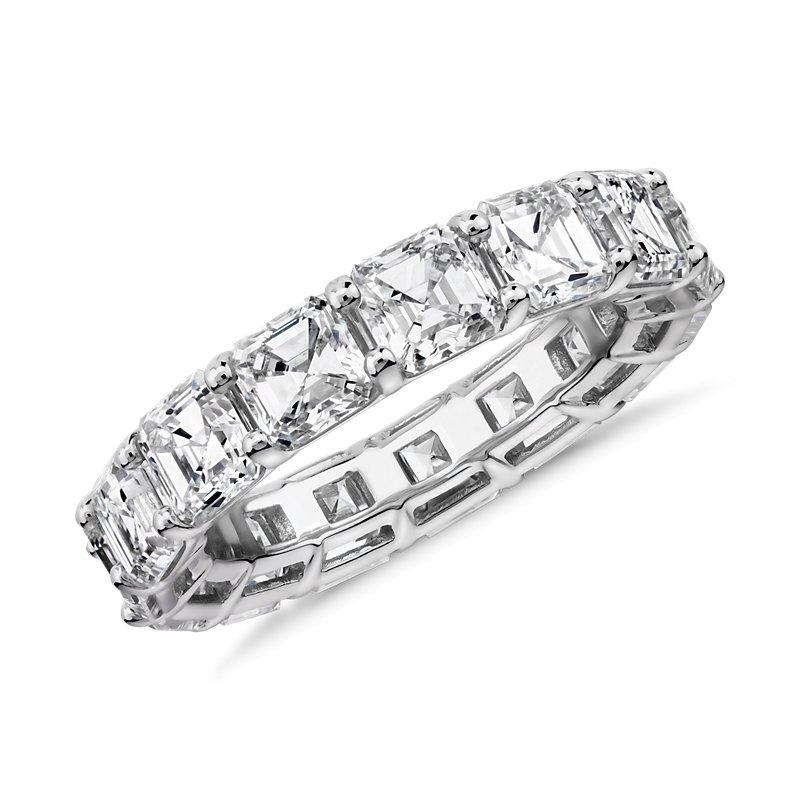 Asscher Cut Diamond Eternity Ring in Platinum (7.0 ct. tw.)