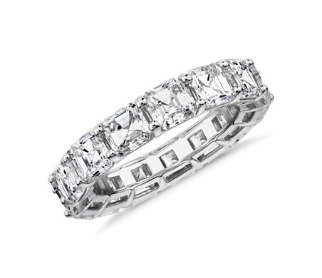 Asscher Cut Diamond Eternity Ring in Platinum (7.0 ct. tw.)