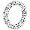 Anillo de eternidad de diamantes de talla Asscher en platino (7,0 qt total)