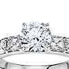 Asscher Cut Diamond Engagement Ring in Platinum (1 ct. tw.)