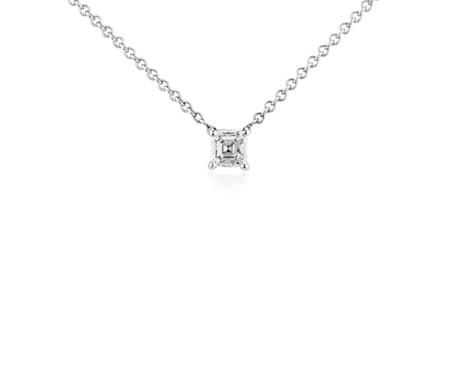 Blue Nile Diamond Solitaire Pendant in 14k White Gold (1/3 ct. tw.) Sxsmtpb