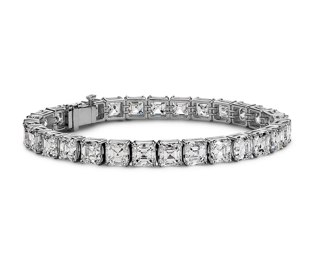Asscher Diamond Eternity Bracelet In Platinum 29 13 Ct