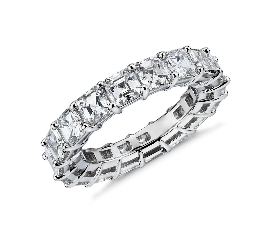 Asscher Diamond Eternity Ring in Platinum (5.35 ct. tw.)