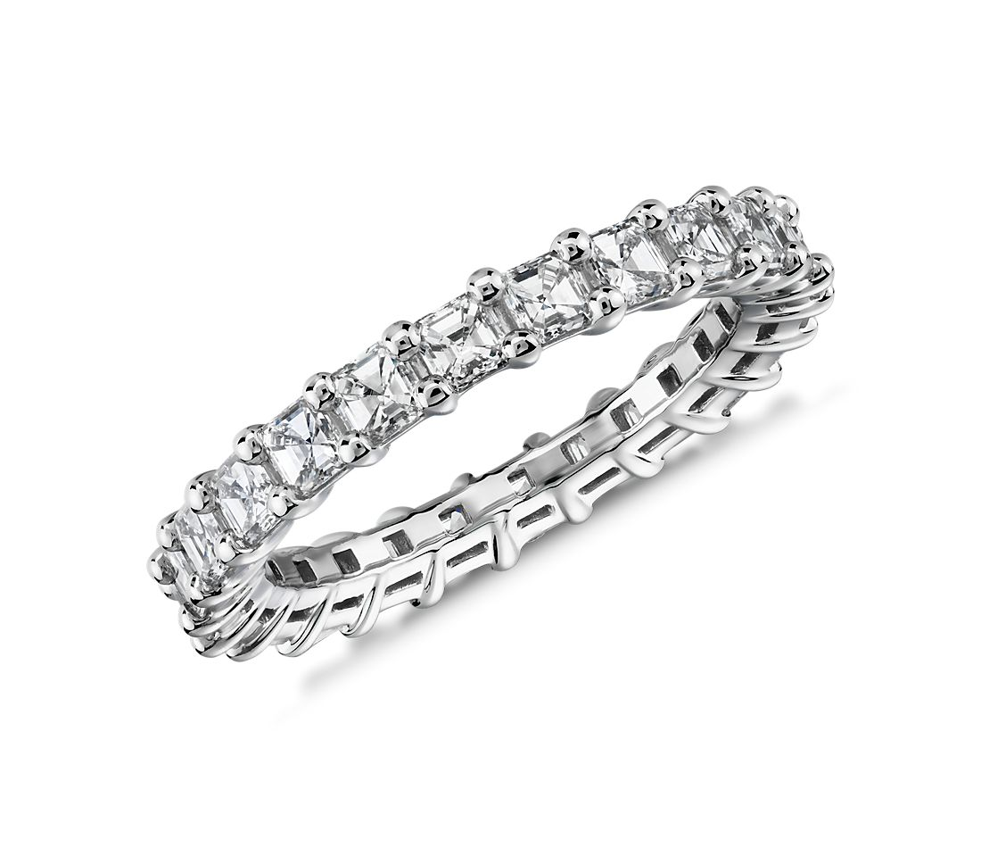 Asscher Cut Diamond Eternity Ring in Platinum (2.0 ct. tw.)