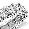 Asscher Cut Diamond Eternity Ring in Platinum (8 ct. tw.)
