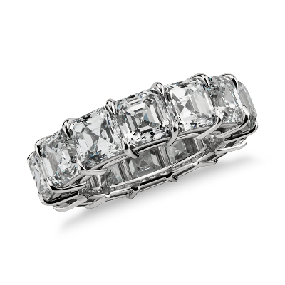 Asscher Cut Diamond Eternity Ring in Platinum (10 ct. tw.)