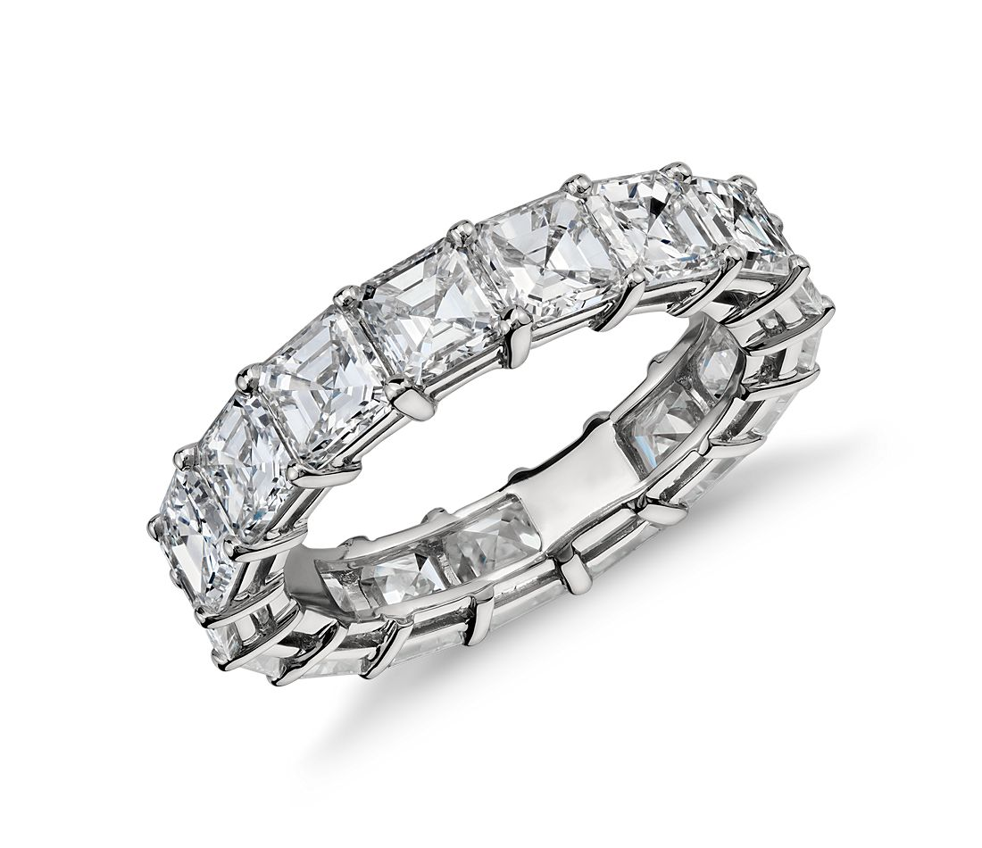 Asscher Cut Diamond Eternity Ring in Platinum (6 ct. tw.)