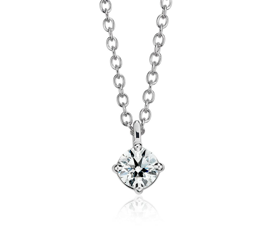 Astor Diamond Solitaire Pendant in Platinum (1/2 ct. tw.) - H / SI2