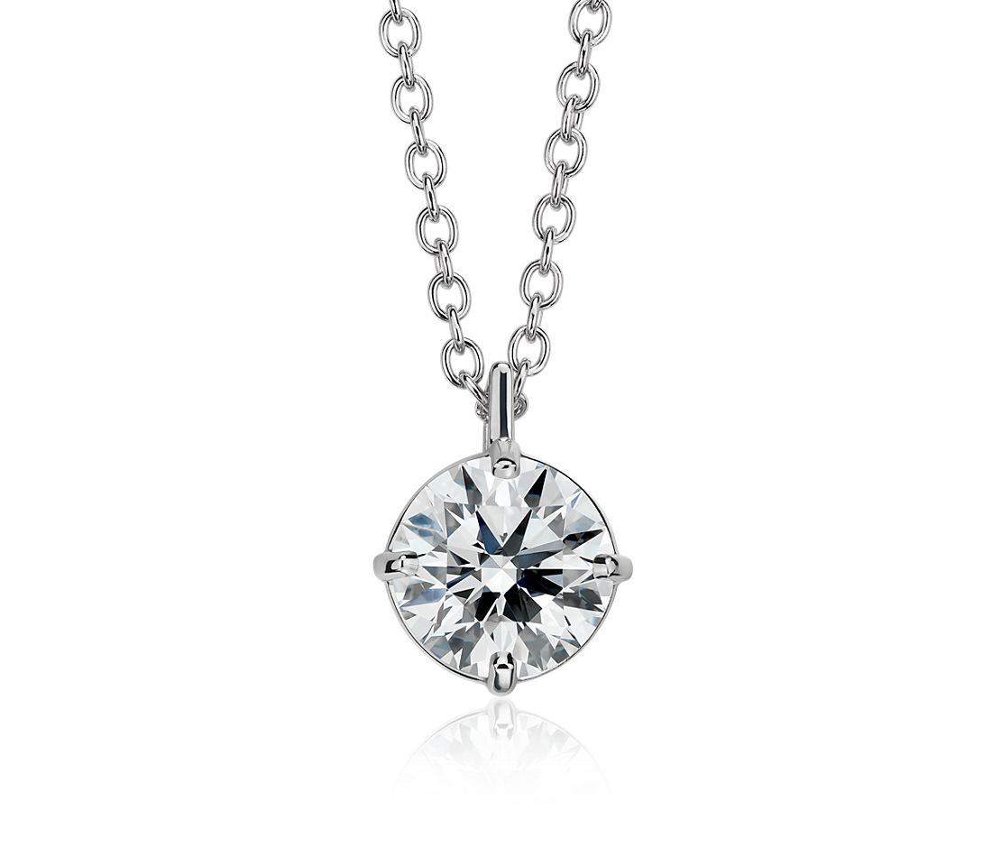 Astor Diamond Solitaire Pendant in Platinum (2 ct. tw.) - H / SI2