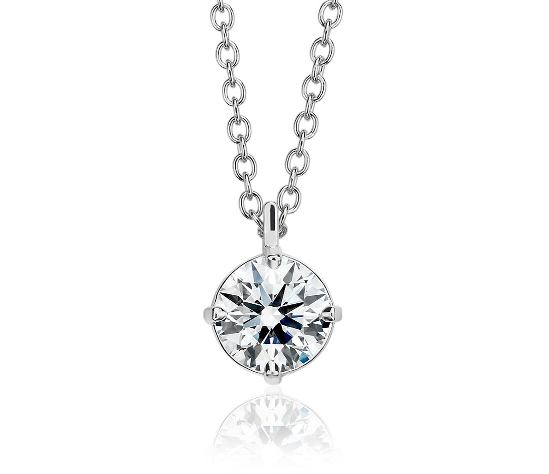 Astor Diamond Solitaire Pendant in Platinum (1 1/2 ct. tw.) - F / VS2
