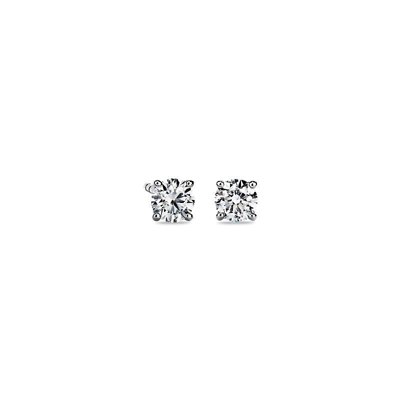 Astor Diamond Stud Earrings in Platinum (3/4 ct. tw.) - H / SI2