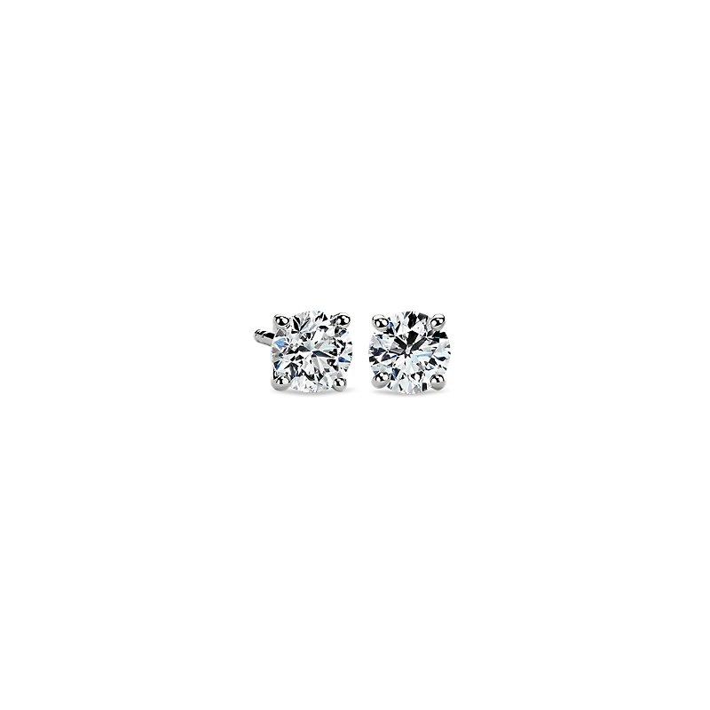 Astor Diamond Stud Earrings in Platinum (1 ct. tw.) - F / VS2