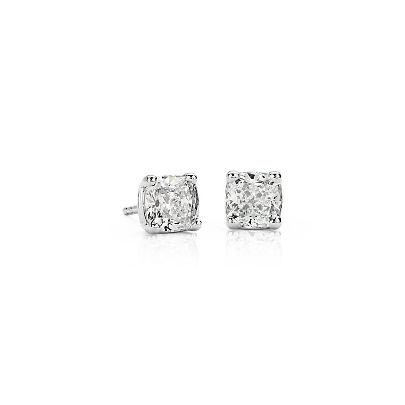 Astor Cushion-Cut Diamond Stud Earrings in Platinum (1 1/2 ct. tw