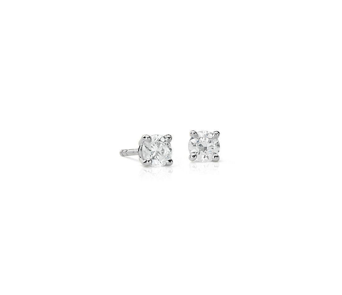 Astor Diamond Stud Earrings in Platinum (5/8 ct. tw.) - H / SI2