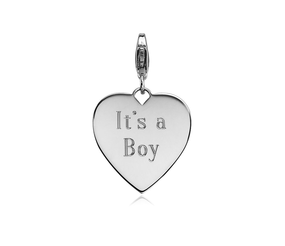 """It's A Boy"" Charm in Sterling Silver"
