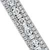 Baguette and Round Diamond Bangle in 14k White Gold (1.95 ct. tw.)