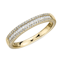 BlueNile deals on Blue Nile Baguette Cut & Round Pave Diamond Channel Wedding Band