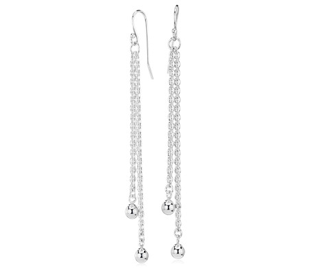 Ball Dangle Earrings in Sterling Silver