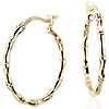 Bamboo Hoop Earrings in 14k Yellow Gold (11/16
