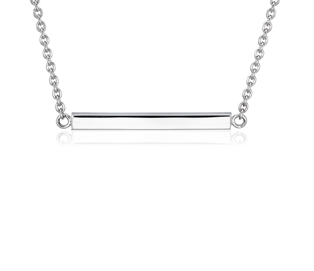 Horizontal Bar Choker in Sterling Silver
