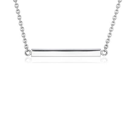 Horizontal Bar Choker in Sterling Silver