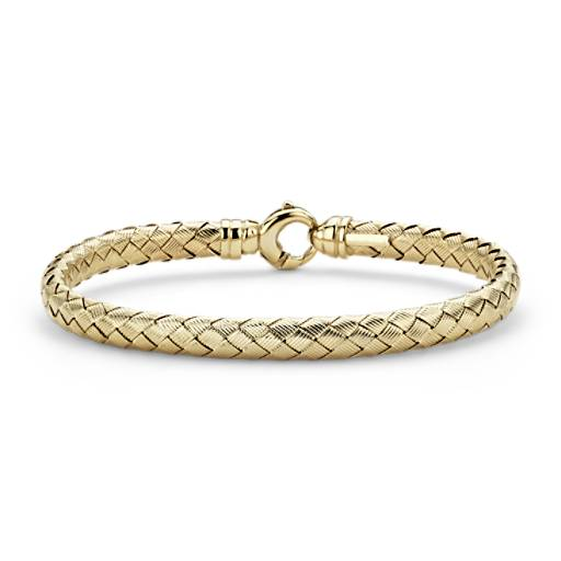 Basket Weave Bangle In 14k Yellow Gold Blue Nile