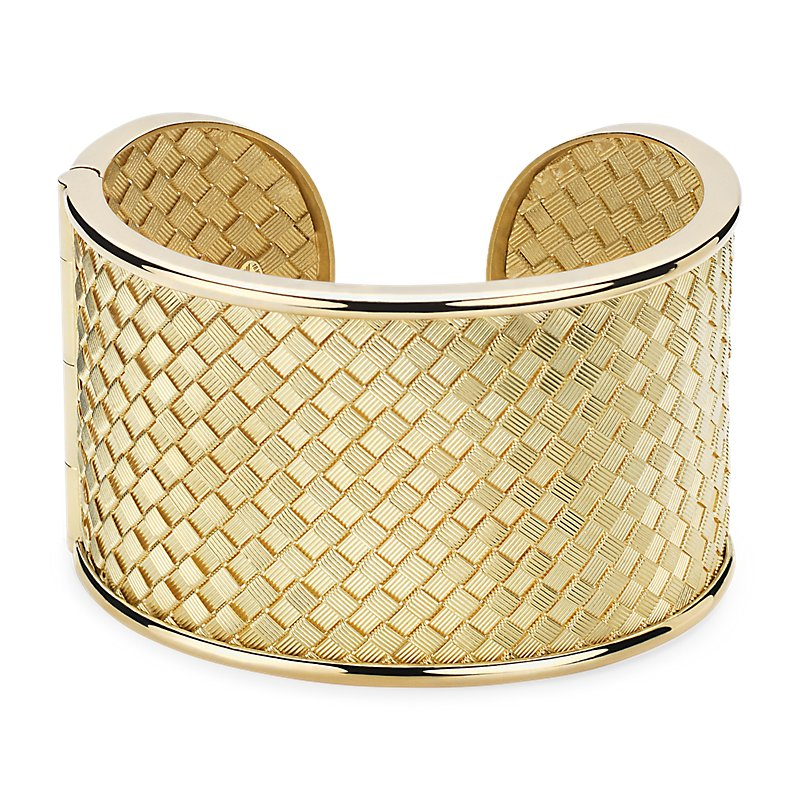 Basket Weave Cuff in 18k Italian Yellow Gold