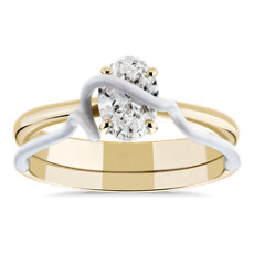 NEW Bea Bongiasca 'You're So Mine' Claw-Set Diamond Engagement Ring in Enamel and 18k Yellow Gold