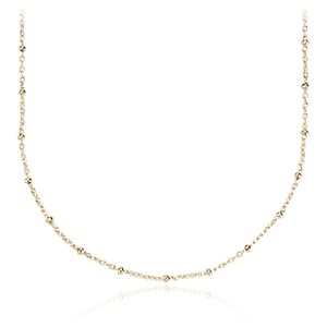 Bead Link Chain Necklace in 14k Yellow Gold