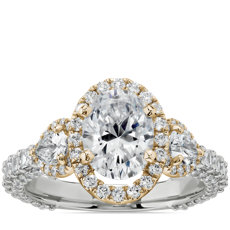 NEW Bella Vaughan for Blue Nile Catarina Diamond Engagement Ring in Platinum and 18k Yellow Gold (1 3/4 ct. tw.)