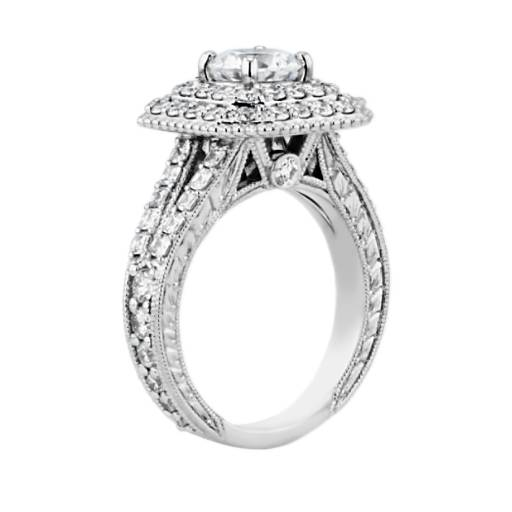 Bella Vaughan for Blue Nile Alexandria Double Halo Engagement Ring