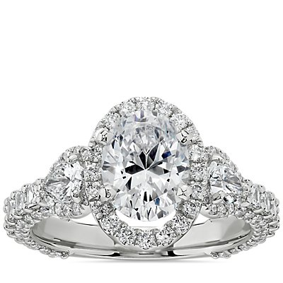 Bella Vaughan for Blue Nile Catarina Oval Diamond Engagement Ring in Platinum (1 3/4 ct. tw.)