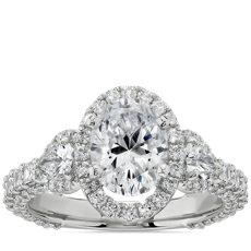 NEW Bella Vaughan for Blue Nile Catarina Oval Diamond Engagement Ring in Platinum (1 3/4 ct. tw.)