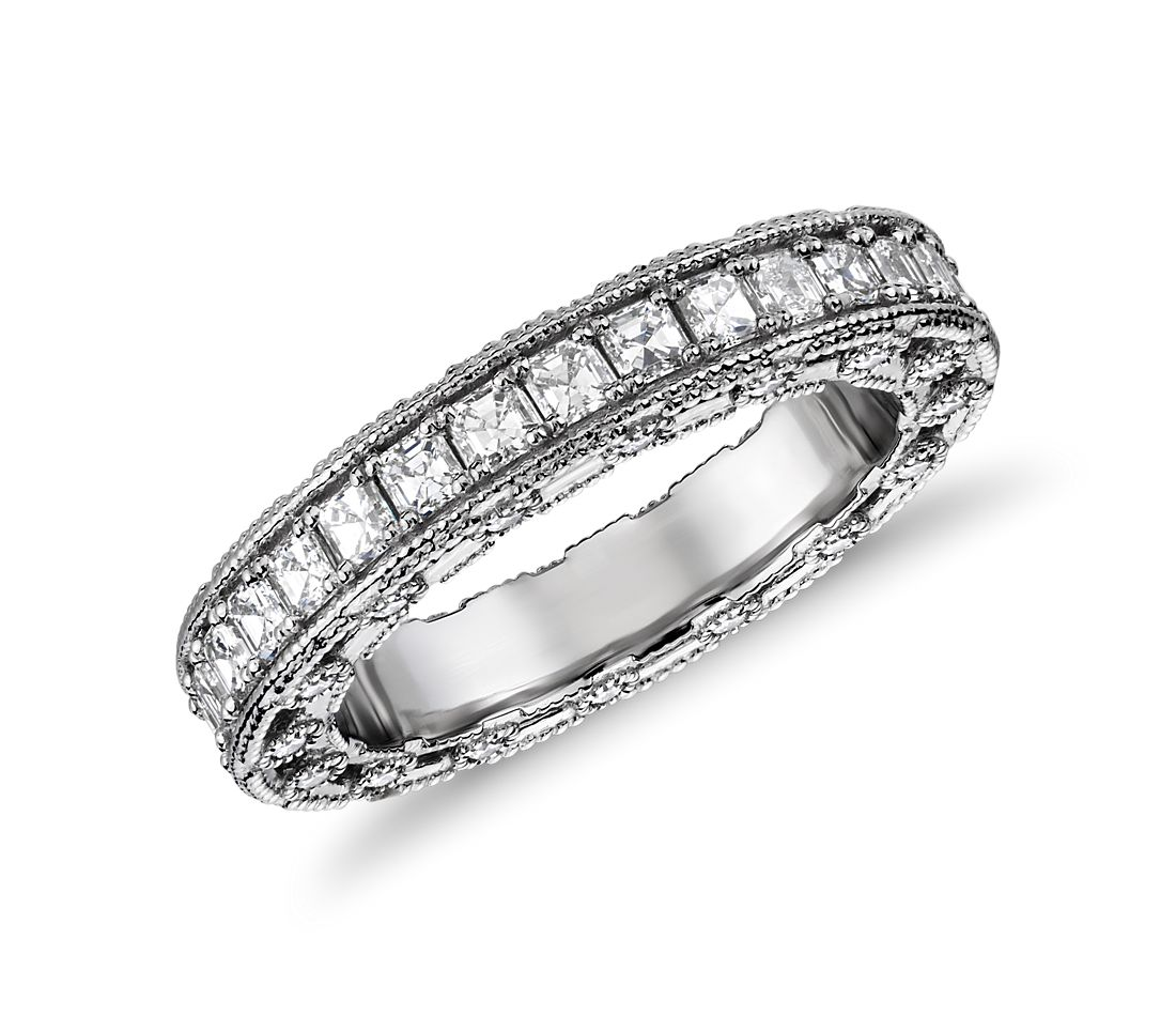Bella Vaughan Grandeur Imperial Band with Asscher Diamonds in Platinum (1 1/2 ct. tw.)