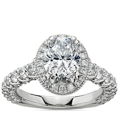NEW Bella Vaughan for Blue Nile Roma Diamond Engagement Ring in Platinum