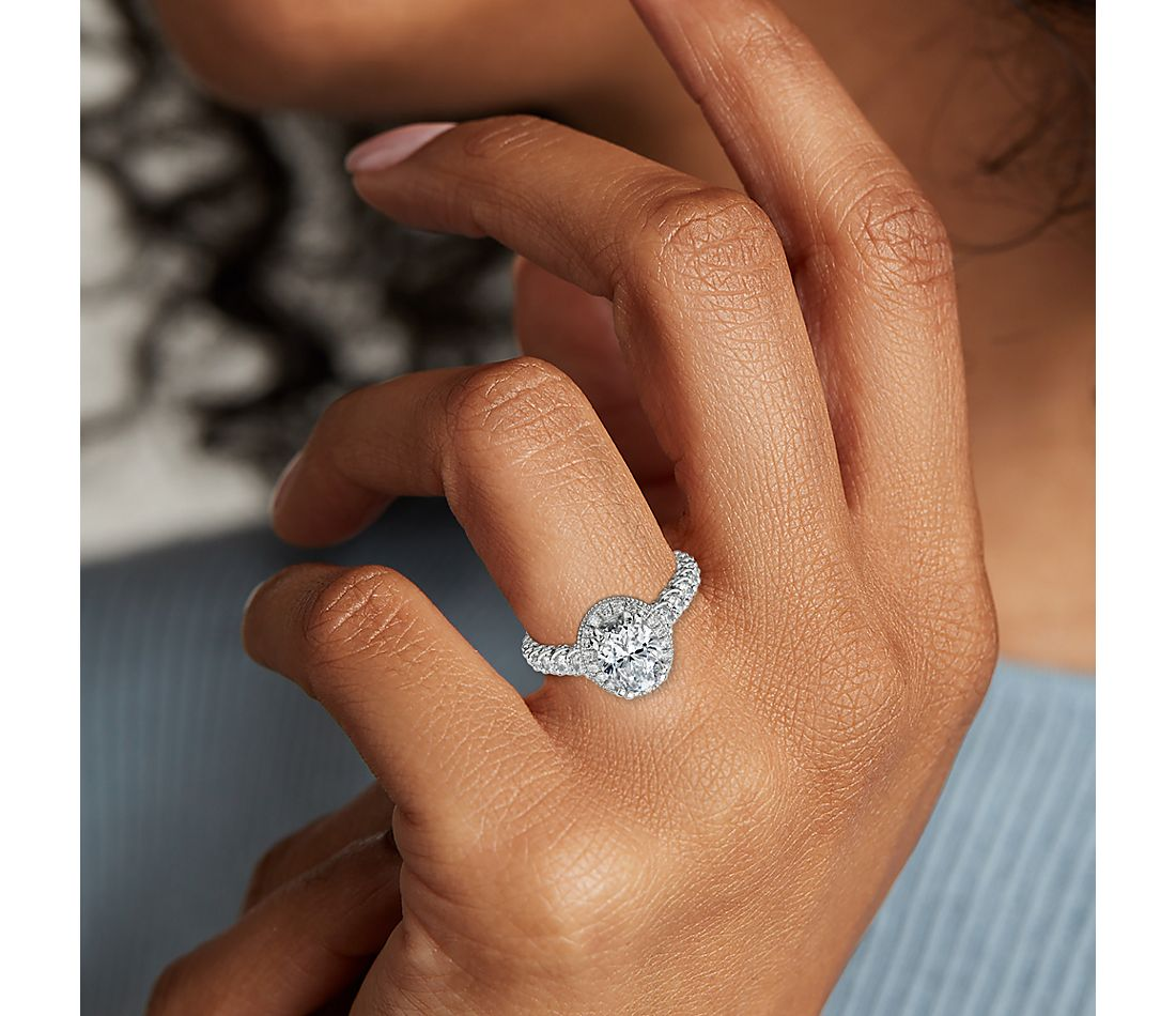 Bella Vaughan for Blue Nile Roma Diamond Engagement Ring in Platinum