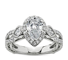 NEW Bella Vaughan for Blue Nile Scia Diamond Engagement Ring in Platinum