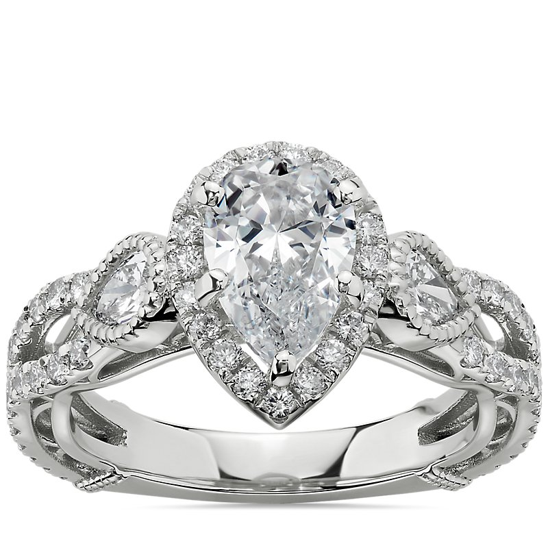 Bella Vaughan for Blue Nile Scia Diamond Engagement Ring in Platinum