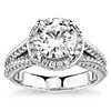 Bella Vaughan for Blue Nile Seattle Split Shank Double Pave Diamond Halo Engagement Ring in Platinum (1 ct. tw.)