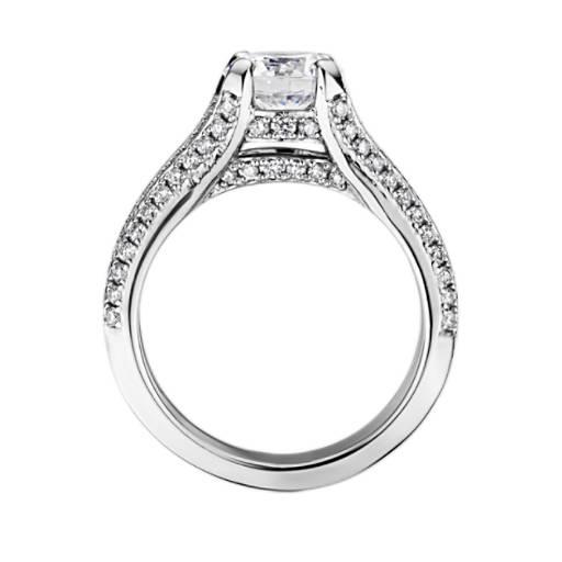 Bella Vaughan for Blue Nile Seattle Split Shank Double Pave Diamond Engagement Ring