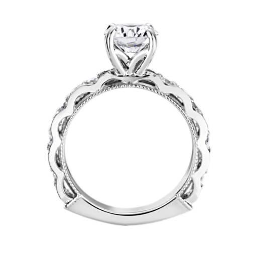 Bella Vaughan for Blue Nile Venezia Milgrain Diamond Engagement Ring
