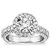 Bella Vaughan for Blue Nile Grandeur Halo Diamond Engagement Ring in Platinum (2.25 ct. tw.)